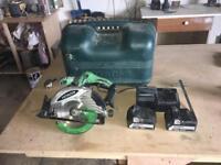 Hitachi cordless skill saw, circular saw