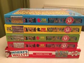 Where's Wally Jigsaw Puzzle Bundle (5 Puzzles) (Christmas Present Idea)