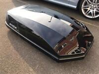 Exodus Gloss Black car Roof Box 470 Litre never used