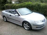 SAAB 9-3 VECTOR TURBO CONVERTIBLE 2LTR PETROL MANUAL 2005
