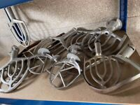 Hobart Crypto Peerless Mixing Bowls Stainless Steel Whisks Paddles Job Lot