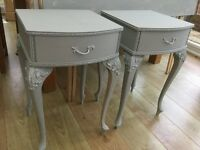 Pair of Louis style vintage bedside tables