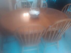 Extendable table 6chaires