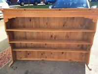Solid Pine shelving / storage unit - Large