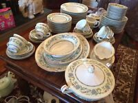 Noritake Oriental 76pc Dinner and Tea Service - Green/Floral
