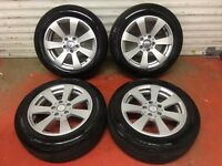 16'' GENUINE MERCEDES C CLASS W204 SPORT ALLOY WHEELS AND TYRES 5X112 A CLASS