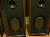 Transmission Line Speakers yousing Kef drivers and Coles Super Tweeter