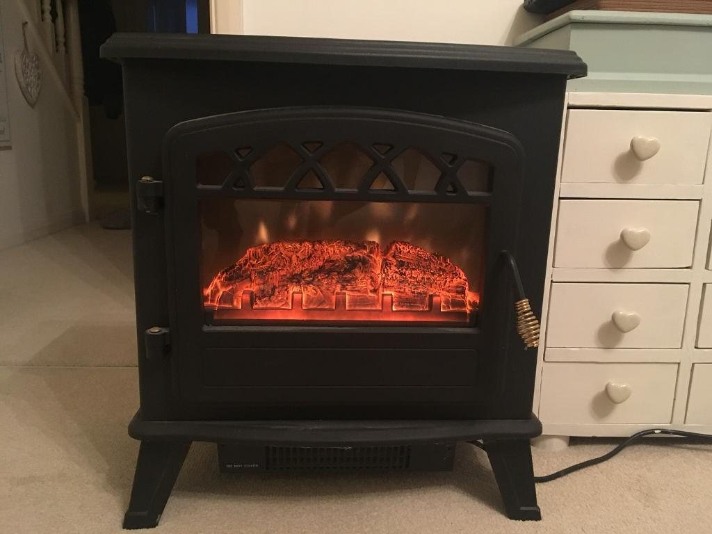 Electric stove fire wood burner style EXCELLENT CONDITION