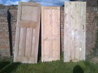 30+ doors, some stripped pine, suitable for upcycling/furniture making or a reclaim centre