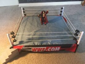 WWE Elite Scale Wrestling Ring for Mattel Figures. **RING ONLY**