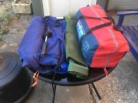 Complete camping set up ready to go