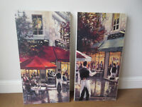 TRIBECA BAR & 5TH AVENUE CAFE BY BRENT HEIGHTON CANVAS PRINTS FROM JOHN LEWIS (x2) NEW YORK CAFE