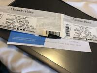 2 standing Vaccines tickets 14th April Alexandra Palace