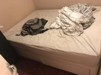 King size Sealy orthopaedic divan set bed - free