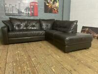 BARGAIN REAL LEATHER CORNER SOFA IN GOOD CONDITION