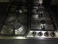 Delonghi 4 gas hob stainless steel hob cooker good condition quick sale bargain