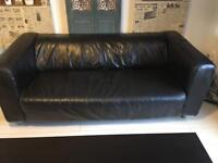 Free IKEA KLIPPAN Two seat leather sofa.