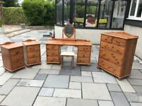 Wood Bedroom Furniture Set 6 Pieces (Price Reduced)