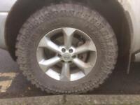 Nissan Navara Alloy Wheels And Off Road Tyres.