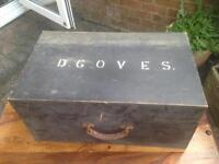 Vintage joiners/carpenters tool chest- with key-£50 collect Po15