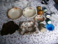12 china and pottery bowls and jugs inc Carltonware