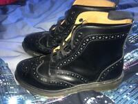 Men's DM Affleck Black Brogue Boots