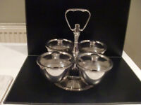 An Indian Stainless Steel Condiment Carousel – Used.