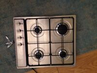 Smeg gas hob - 4 burners, only used for a year, perfect working order