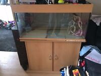 fish tank with stand and accsessories