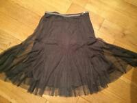 Dove grey tulle skirt size 10