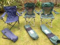 Folding chairs for outdoors - Ozark Trail £15 for 3 chairs