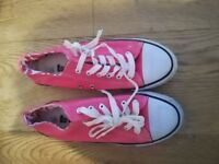 Womens Girls Canvas Pumps Lee Cooper Trainers Pink