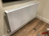 Radiator with decorative panel included