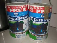 SHED AND FENCE PAINT BLUE