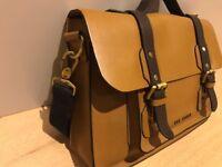 Ted Baker Mens Brown Leather Messenger/Satchel Bag - Pristine Condition