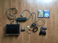 XBOX 360 120GB + KINECT + CONTROLLER + WIFI ADAPTER + 64GB EXTERNAL MEMORY