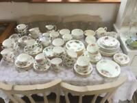 Vintage china, mixed, idea for hiring out or cafe use...