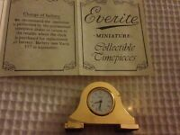 Miniature 24ct gold napoleon clock