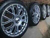 "Brand New 18"" VW Golf mk6 alloy wheels +NEW tyres Touran Passat Audi TT A4 5x112 CAN POST"