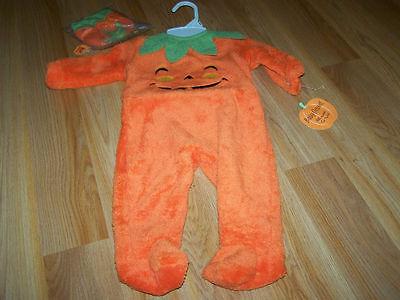 Infant Size 3-6 Months Baby Grand Pumpkin Jack O Lantern Halloween Costume New