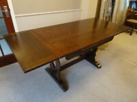 SOLID OAK 4 FOOT EXTENDABLE TABLE