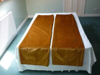 Curtains Heavy Gold Velvet. Pr. Best quality. Used but good clean unmarked condition. Lined .