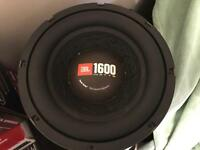 10 inch competition subwoofer JBL 1600 watts