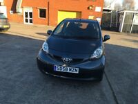 Toyota Aygo 1.0 grey 5 door new clutch fitted with invoice mot until 8/10/18 full service history