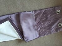 Beautiful Lilac Chenile and satin fully lined eyelet curtains