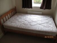 PINE 4 FT ( 1200 CM ) DOUBLE BED & MATTRESS