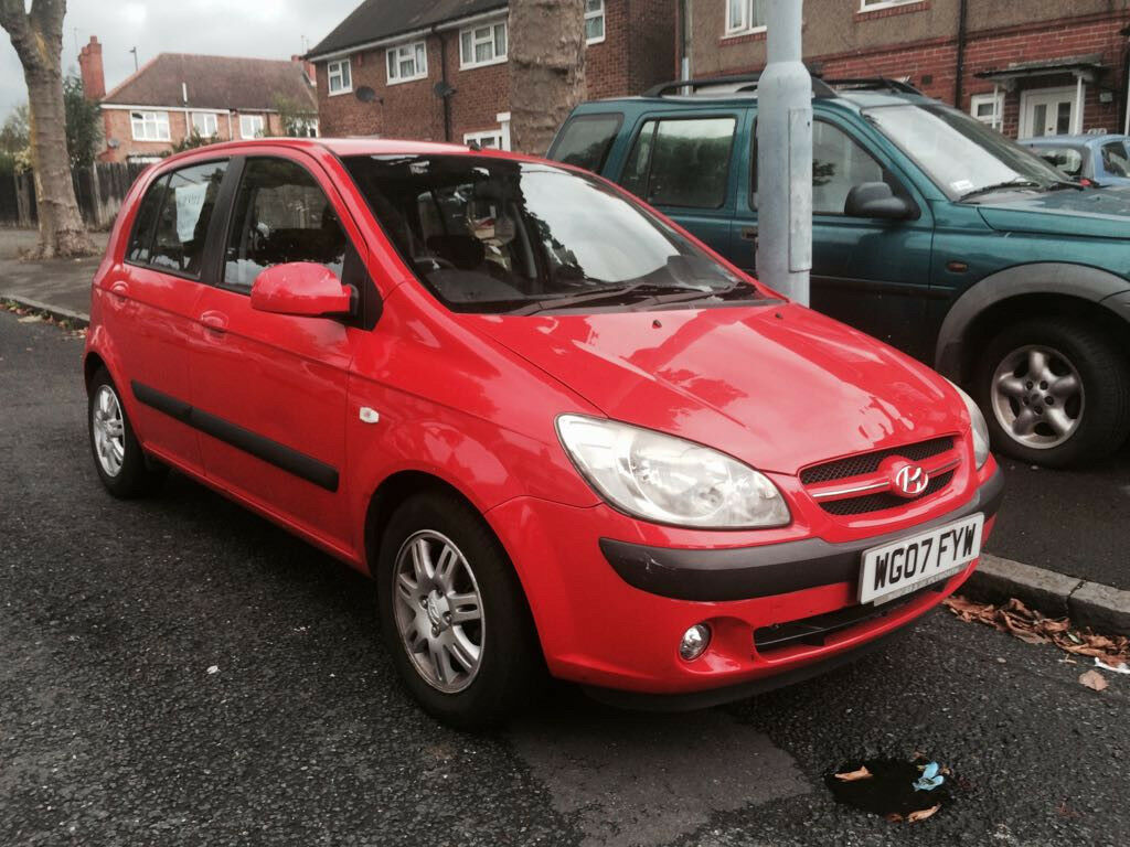 *MUST GO* Hyundai Getz 1.3 2007 Red 80k Miles Good Condition A/C