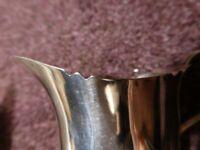 lovely old vintage collectible antique silver cream jug, hallmarked Birmingham 1935, has Wavy Rim