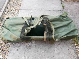 Large carp fishing unhooking mat with cradle bag