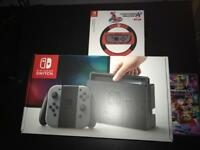 Nintendo switch like new with mario kart 8 deluxe